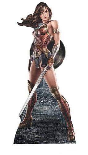 Wonder Woman With Sword Lifesize Cardboard Cutout - 184cm