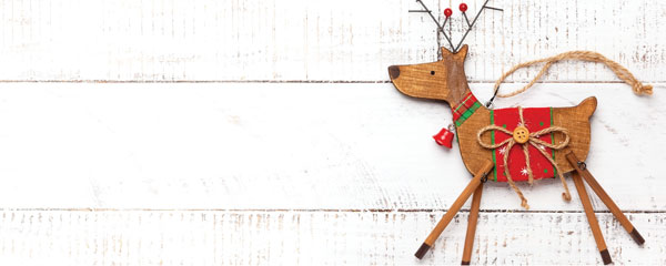 Wooden Reindeer Christmas Design Small Personalised Banner – 4ft x 2ft