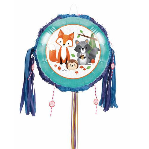Woodland Animals Pull String Pinata Product Image