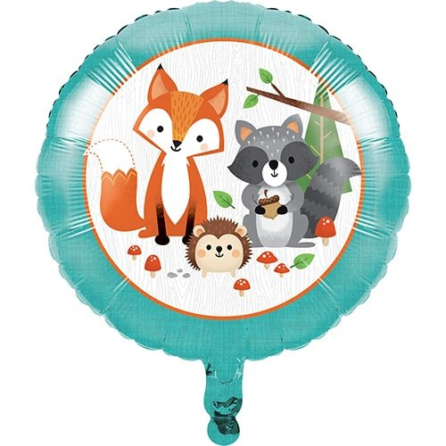 Woodland Animals Round Foil Helium Balloon 46cm / 18 in Product Image
