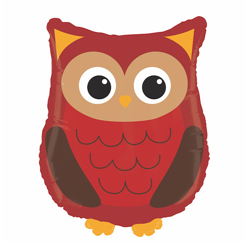 Woodland Owl Helium Foil Giant Balloon 66cm / 26 in Product Image