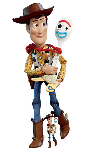 Woody And Forky Toy Story 4 Lifesize Cardboard Cutout 164cm Product Image