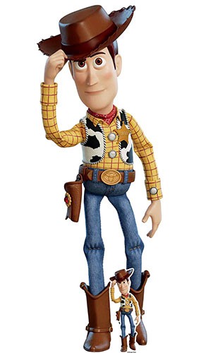 Woody Cowboy Hat Toy Story 4 Lifesize Cardboard Cutout 162cm Product Image