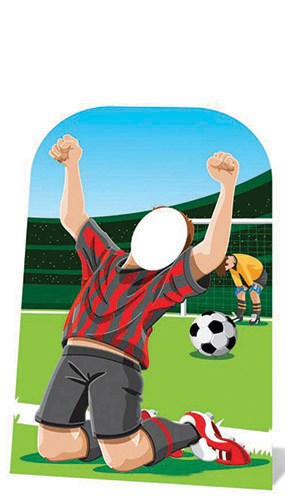 World Cup Football Goal Scoring Childrens Stand In Cardboard Cutout - 117cm Product Image