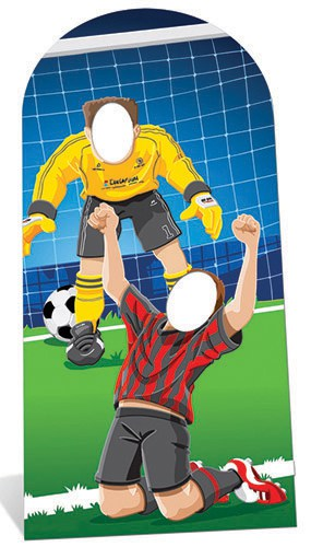World Cup Football Goal Scoring Stand In Cardboard Cutout - 192cm Product Image