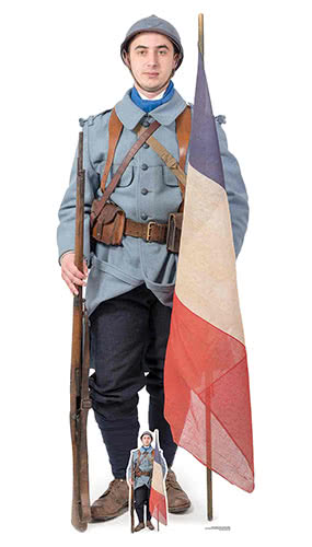 WW1 French Soldier Lifesize Cardboard Cutout 186cm Product Image