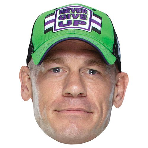 WWE John Cena Cardboard Face Mask Product Image