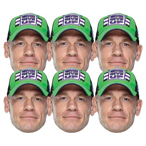 WWE John Cena Cardboard Face Masks - Pack of 6 Product Image