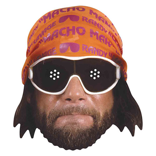 WWE Macho Man Randy Savage Cardboard Face Mask