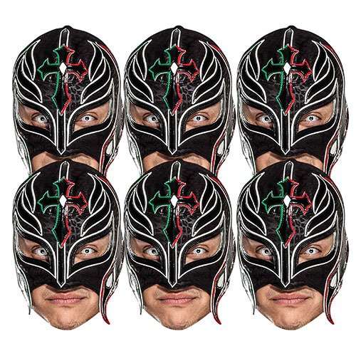 WWE Rey Mysterio Cardboard Face Masks - Pack of 6 Product Image
