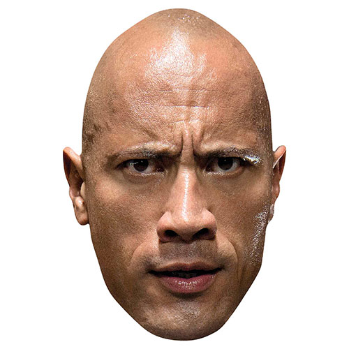WWE The Rock Cardboard Face Mask Product Image