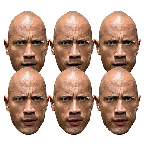 WWE The Rock Cardboard Face Masks - Pack of 6 Product Image
