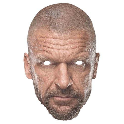 WWE Triple H Cardboard Face Mask