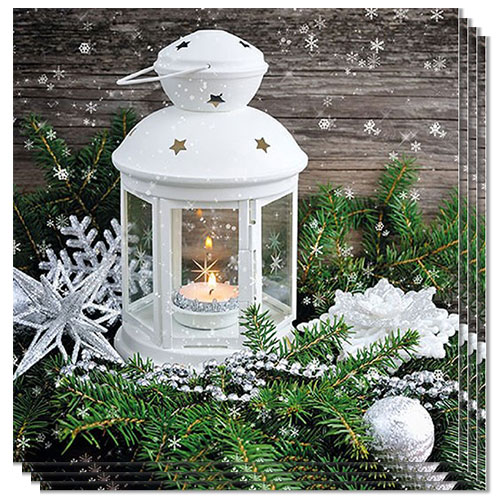 Xmas Atmosphere Candle Premium Luncheon Napkins 3Ply 33cm - Pack of 20 Product Image