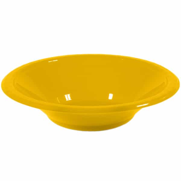 Yellow Plastic Bowls 17cm - Pack of 20 Product Image
