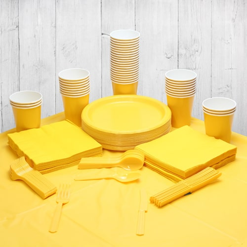 Yellow 54 Person Party Pack Product Image