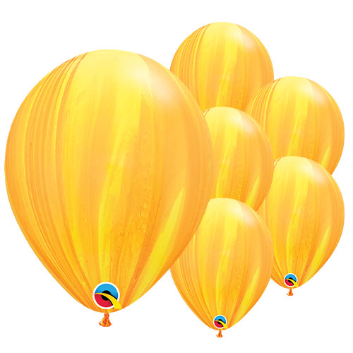 Yellow and Orange SuperAgate Latex Qualatex Balloons 28cm / 11 in - Pack of 25 Product Image