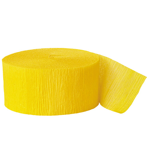Yellow Crepe Streamer - 81 Ft / 24.6m