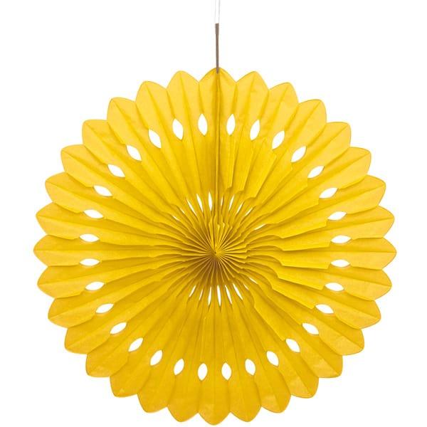 Yellow Hanging Decorative Honeycomb Fan 40cm Product Image