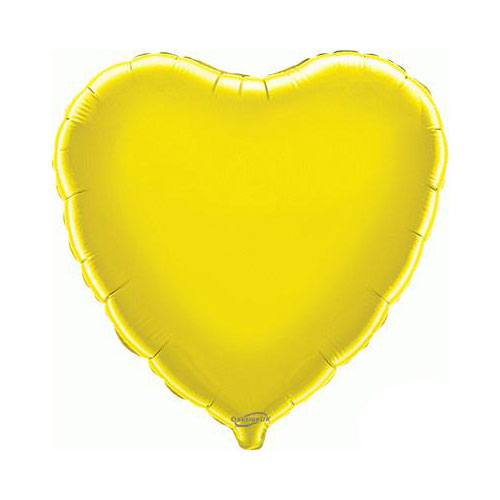 Yellow Heart Foil Helium Balloon 46cm / 18 in Product Image
