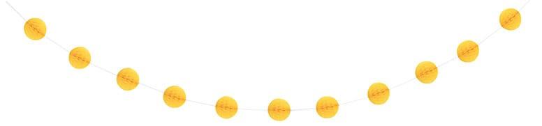 Yellow Honeycomb Ball Garland - 213cm Product Image