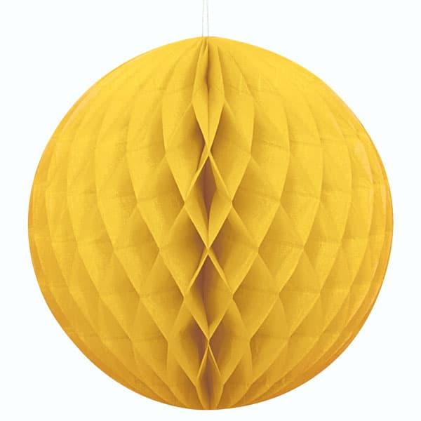 Yellow Honeycomb Hanging Decoration Ball 20cm Product Image