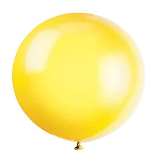 Yellow Jumbo Biodegradable Latex Balloon - 91cm