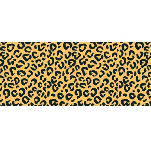 Yellow Leopard Animal Print PVC Party Sign Decoration 60cm x 25cm Product Image