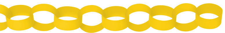 Yellow Paper Chains Link Garlands 3.9m Product Image