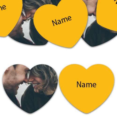 HEART Shape - Yellow Personalised Confetti - Pack of 50 Product Image
