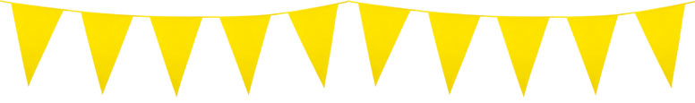 Yellow Plastic Pennant Bunting 10m Product Image