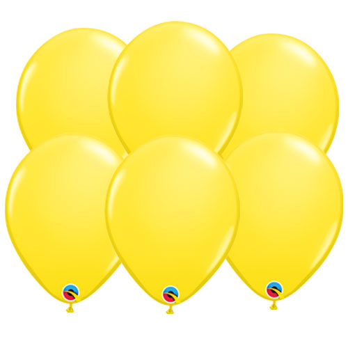 Yellow Round Latex Qualatex Balloons 28cm / 11 in - Pack of 10 Product Image