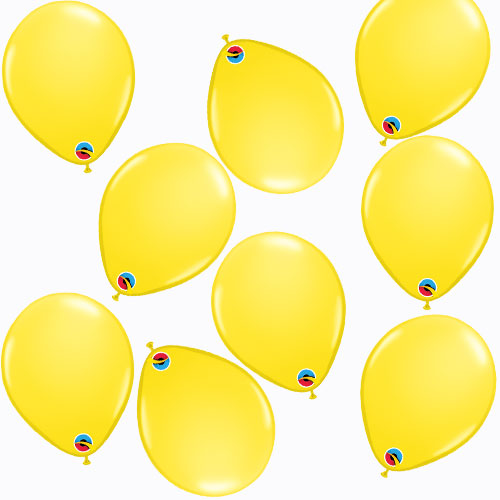 Yellow Round Mini Latex Qualatex Balloons 13cm / 5 in - Pack of 100 Product Image
