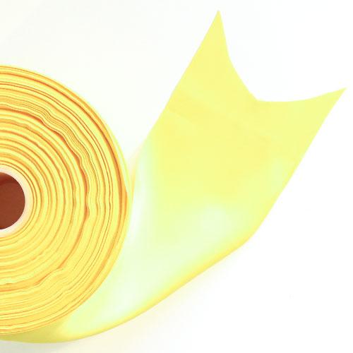 Yellow Satin Faced Ribbon Reel 100mm x 91m