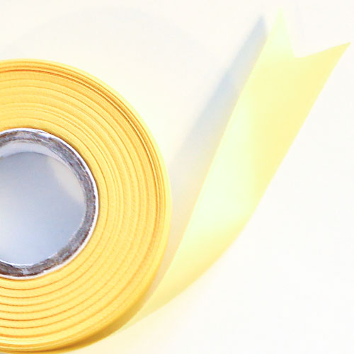 Yellow Satin Faced Ribbon Reel 25mm x 25m Product Image