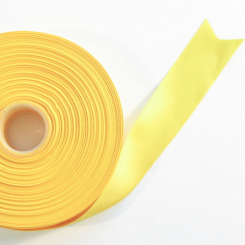 Yellow Satin Faced Ribbon Reel 38mm x 91m