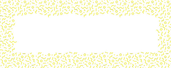 Yellow Squiggle Design Small Personalised Banner - 4ft x 2ft