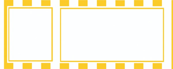 Yellow Stripes Design Large Personalised Banner - 10ft x 4ft