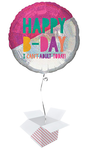 Young & Fab Helium Foil Giant Balloon - Inflated Balloon in a Box Product Image