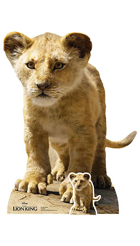 Young Simba Lion King Live Action Star Mini Cardboard Cutout 87cm Product Image
