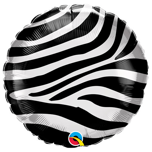 Zebra Stripes Pattern Foil Helium Qualatex Balloon 46cm / 18 in