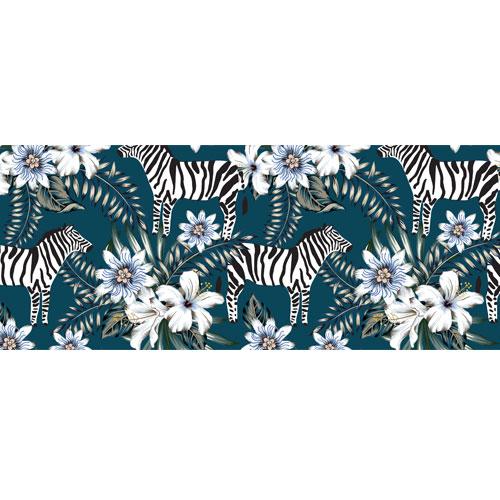 Zebras & Flowers PVC Party Sign Decoration 60cm x 25cm Product Image