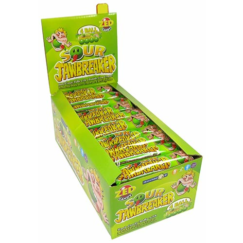 Zed Candy Sour Jawbreakers Vegetarian Sweets - Pack of 30 Product Image