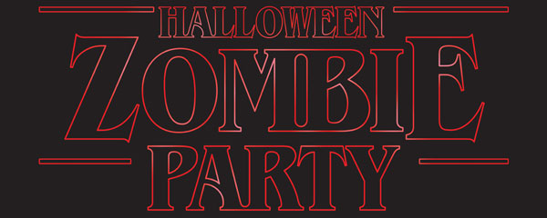 Zombie Party Halloween Strange Thing PVC Party Sign Decoration 60cm x 25cm