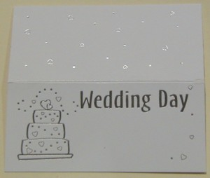 Wedding Cake White Place Cards - Pack of 10
