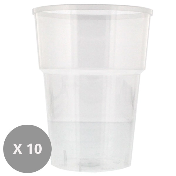 Plastic Pint Glasses - 20oz / 568ml - Pack of 10 Product Image