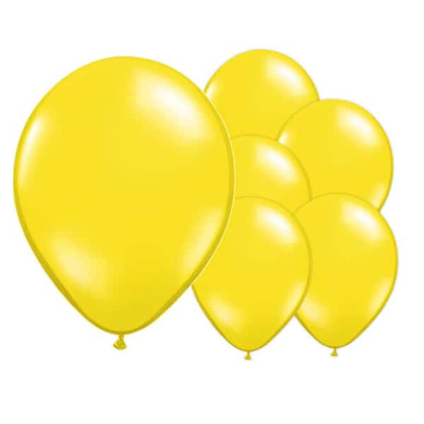 Cajun Yellow Biodegradable Latex Balloons - 12 Inches / 30cm - Pack of 100