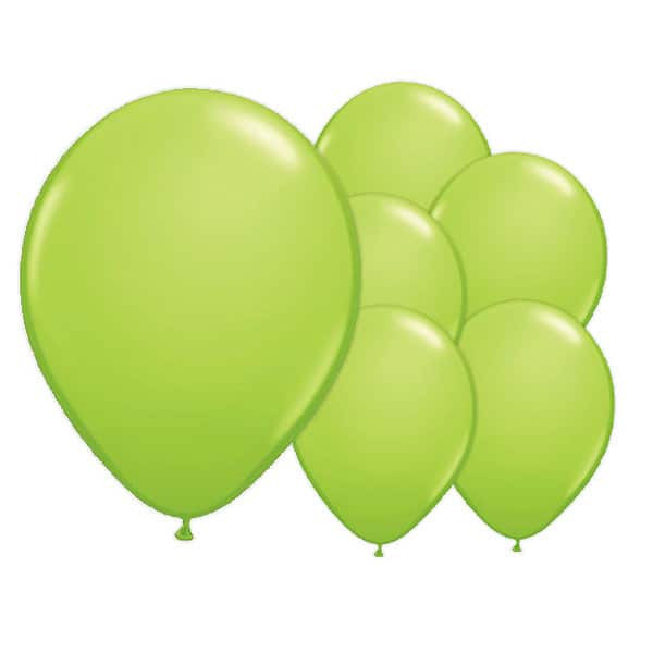 Lime Green Biodegradable Latex Balloons - 12 Inches / 30cm - Pack of 100