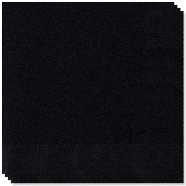 Black 2 Ply Napkins - 13 Inches / 33cm - Pack of 100