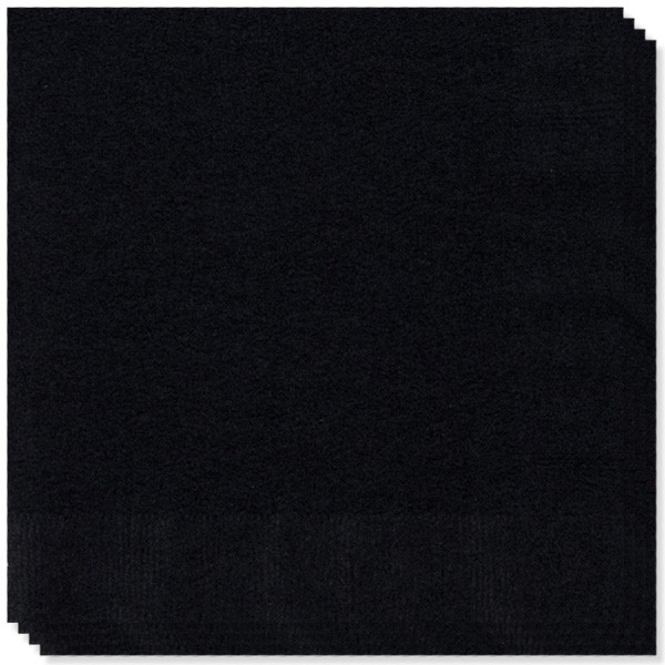 Black 2 Ply Napkins - 16 Inches / 40cm - Pack of 100